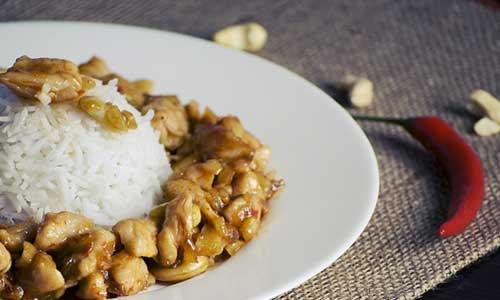 wok thai poulet